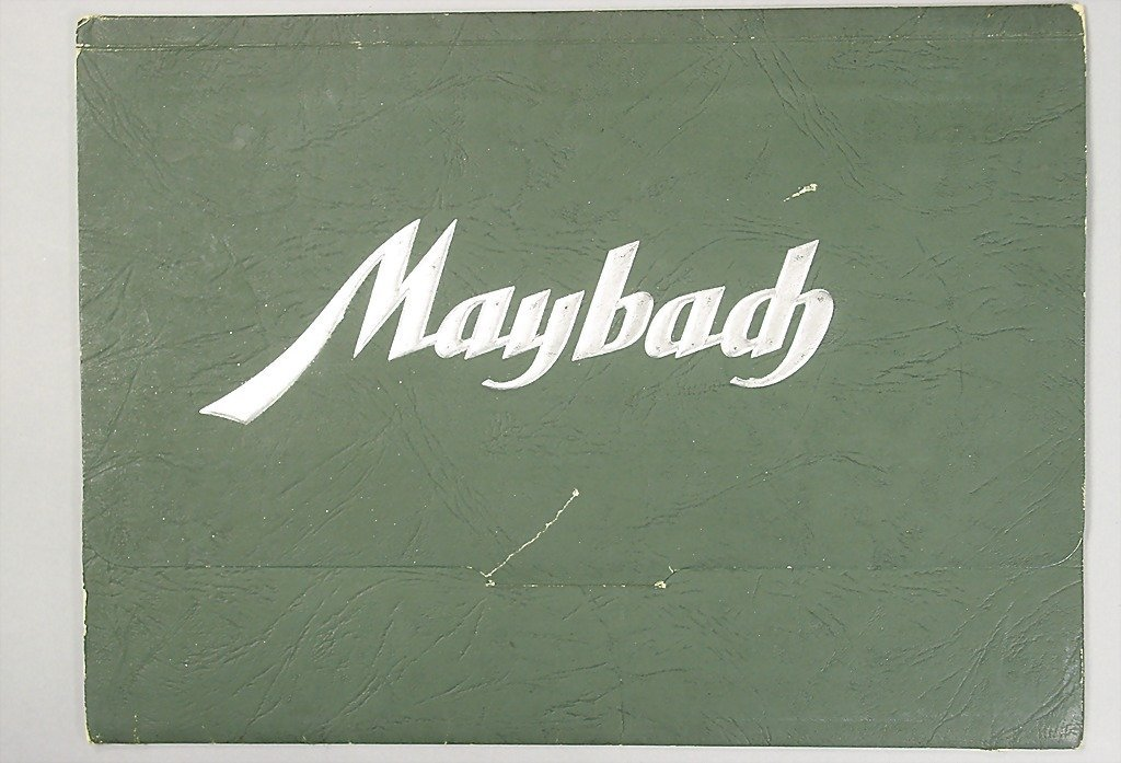 1422: MAYBACH D 1937, sales folder, SW 38, brochure wit