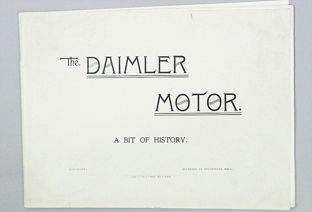 1424: DAIMLER-MOTOR-COMPANY sales catalog, 1897, model