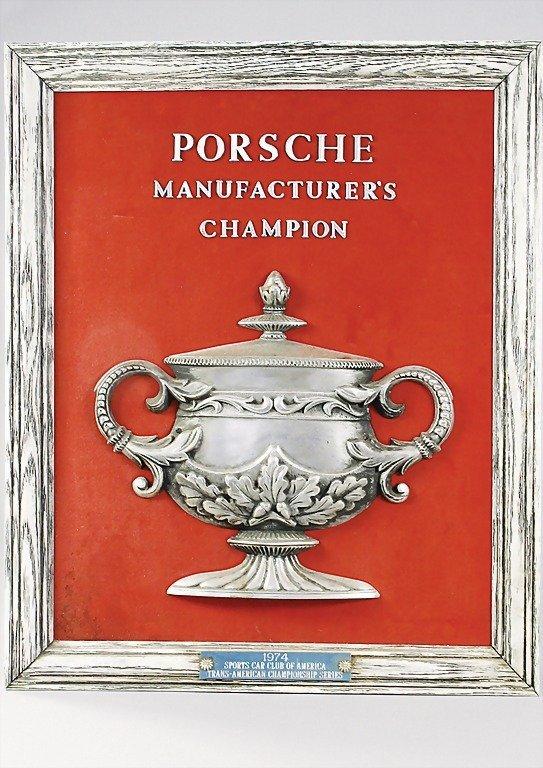 1498: PORSCHE 1974, trophy Porsche Manufacturer's Champ