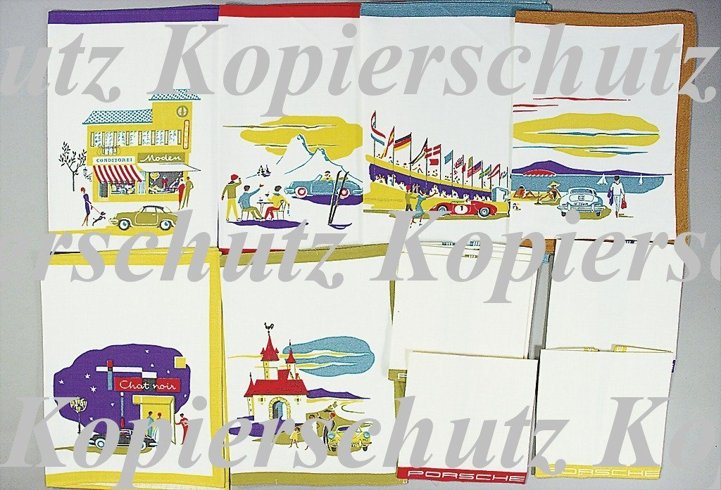 1521: PORSCHE 12 pieces table set with place mats and f