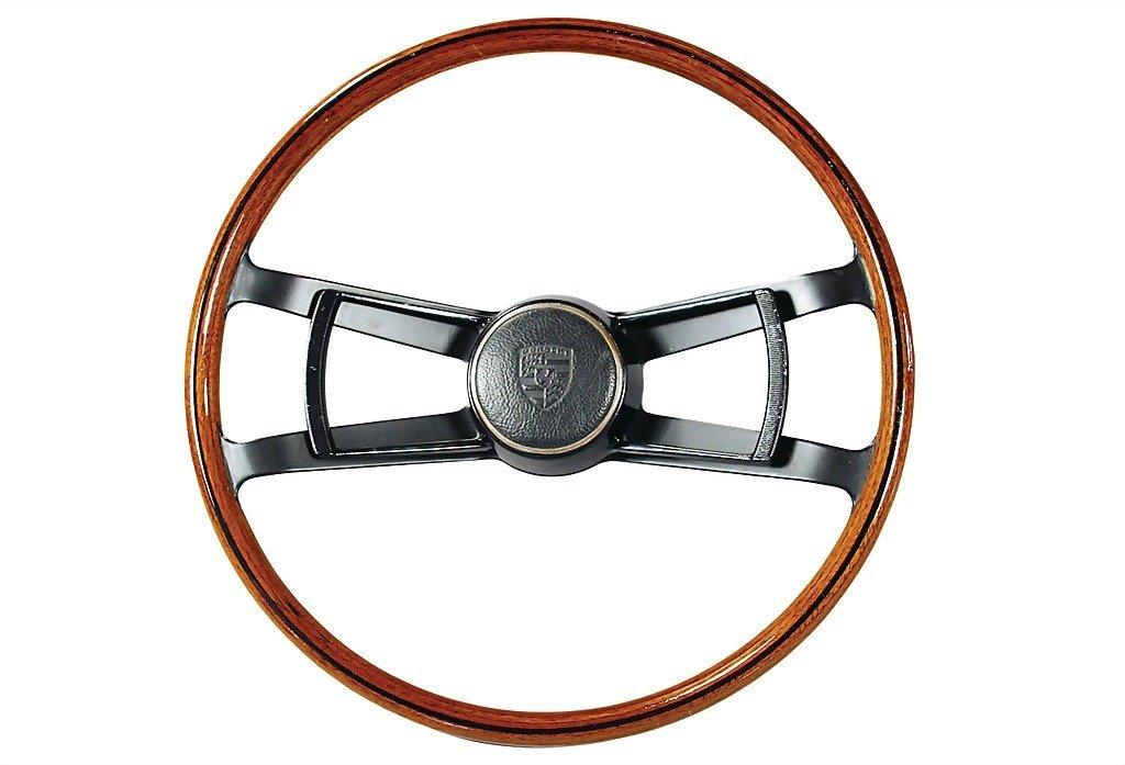 3001: PORSCHE c. 1967, original Porsche wood steering w
