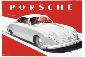 PORSCHE Middle 1948, Brochure Porsche Gm�nd, 4 Pa