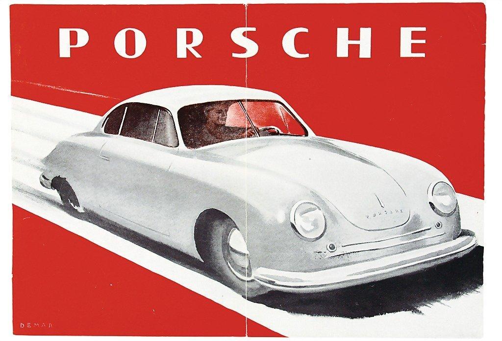 3003: PORSCHE middle 1948, brochure Porsche Gmünd, 4 pa