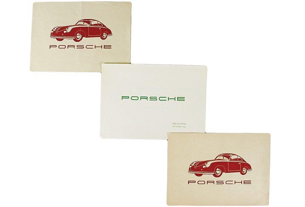 3004: PORSCHE mixed lot of 3 pieces, 1951/1952, No. 1: