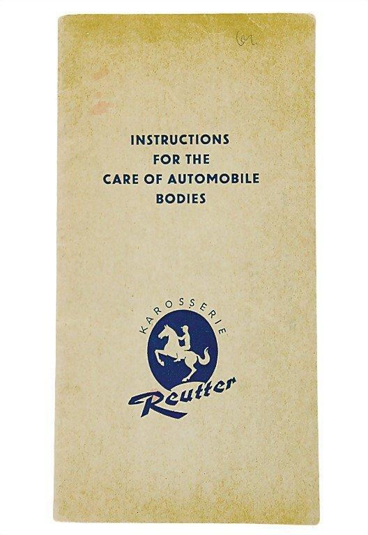 """3005: PORSCHE/KAROSSERIE REUTTER c. 1955, English, """"Ins"""
