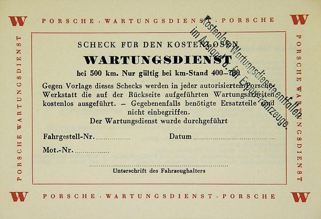 3006: PORSCHE Germany, 1953, Porsche customer service b