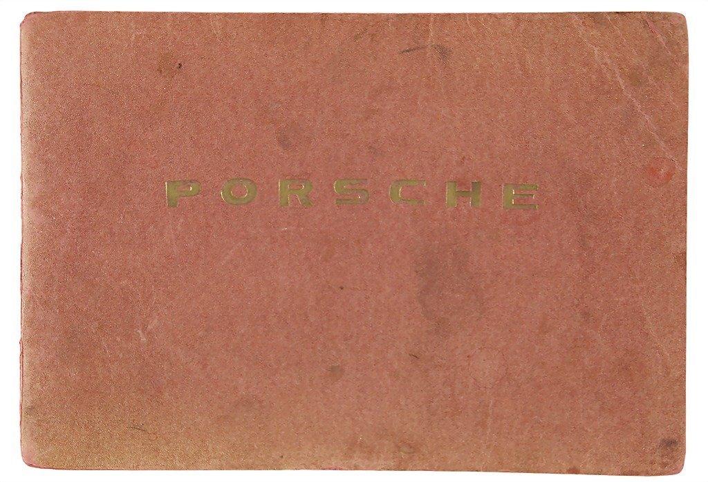 3007: PORSCHE c. 1954, English operating instructions (