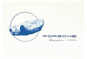 3010: PORSCHE Germany 1954, folder Porsche Spyder, type