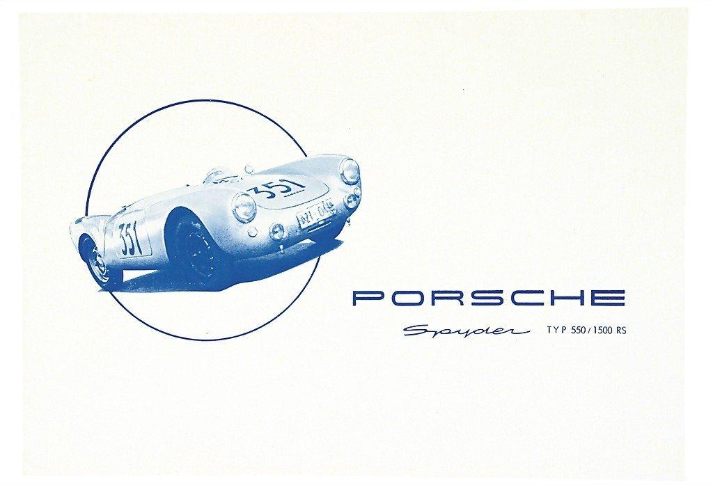 3010: PORSCHE Germany 1954, folder Porsche Spyder, type