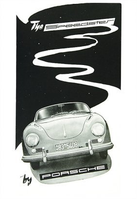 "3011: PORSCHE English folder 1955 ""The Speedster by Por"
