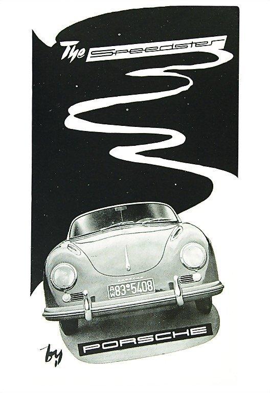 "3011: PORSCHE English folder 1955 ""The Speedster by Por"