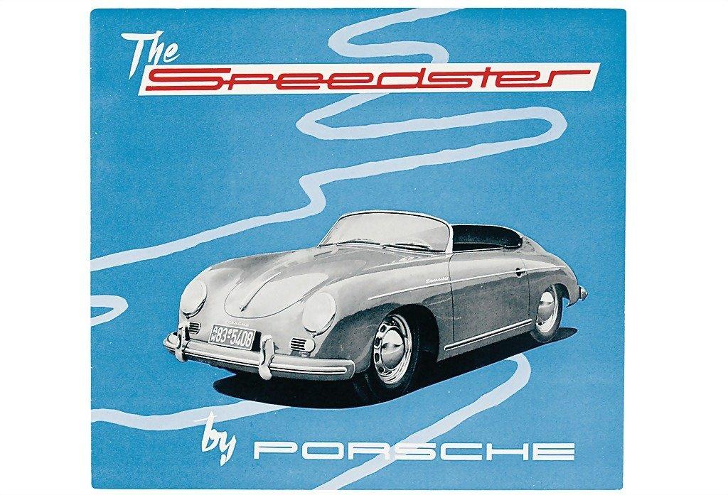 """3012: PORSCHE English folder 1955, """"The Speedster"""" (1.5"""