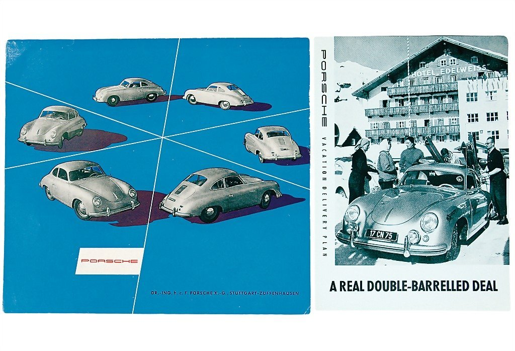 3016: PORSCHE mixed lot of 3 sales brochures and catalo