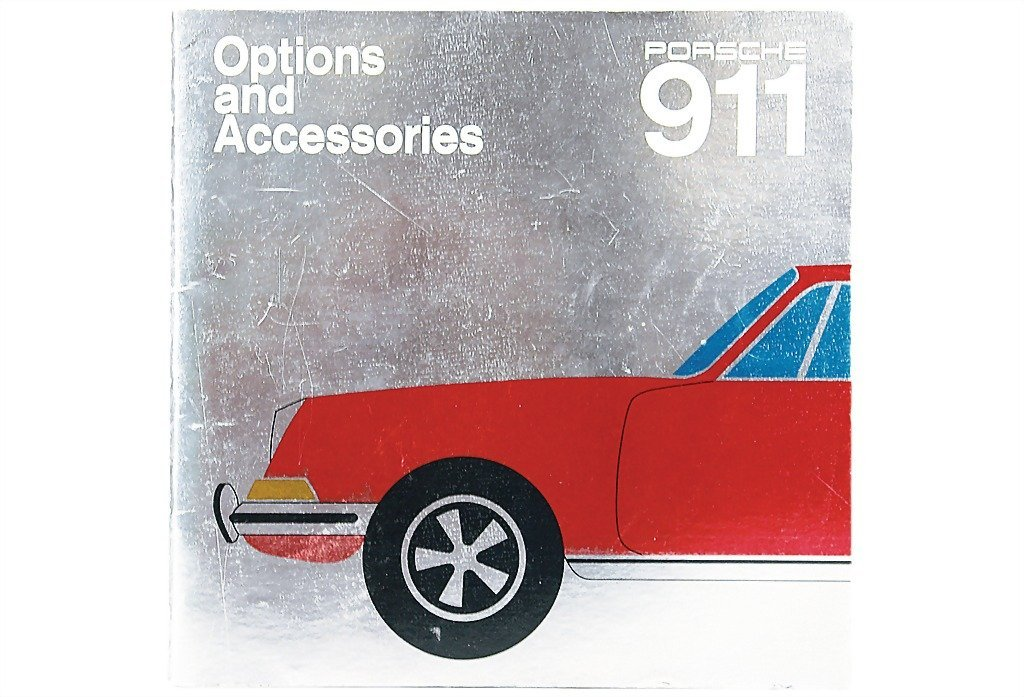 """3080: PORSCHE USA late '60s, catalog """"Options and Acces"""