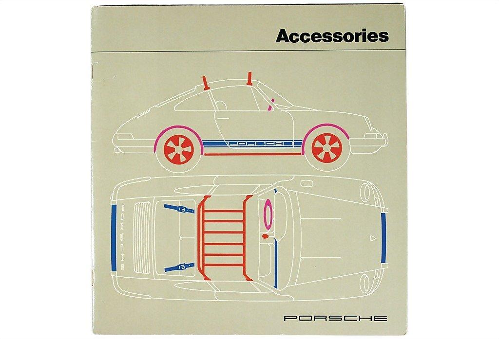 """3082: PORSCHE USA early '70s, Porsche catalog """"Accessoi"""
