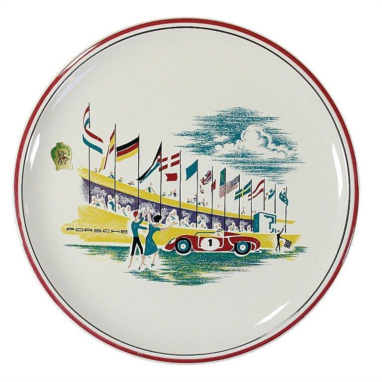 3084: PORSCHE/ULMER KERAMIK complete, set of plates wit