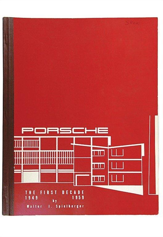 """3088: PORSCHE English catalog """"Porsche The First Decade"""