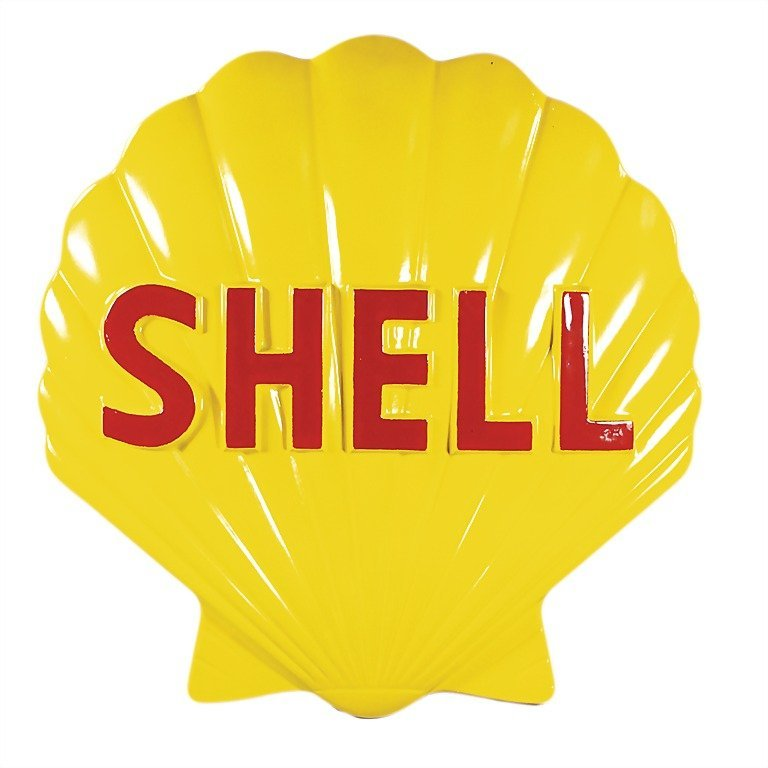 3095: SHELL '50s, advertising shell, fibreglass/plastic