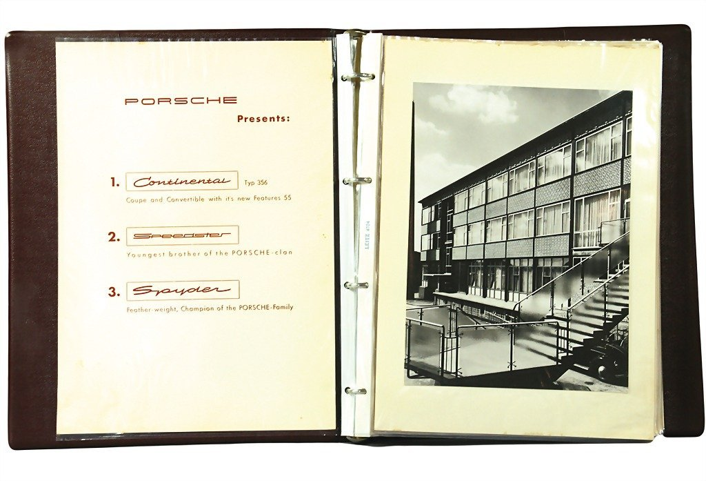 3119: PORSCHE 1954, original salesman folder Porsche ty - 2