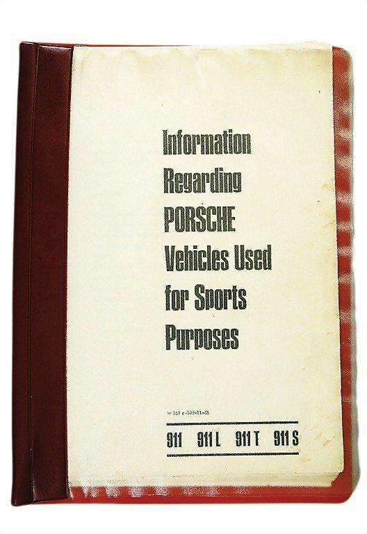 "PORSCHE 1968 (W351e-300-11-68) ""Information Regar"