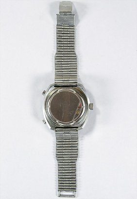 3296: HEUER men's watch, Calculator Ref. 110633, steel