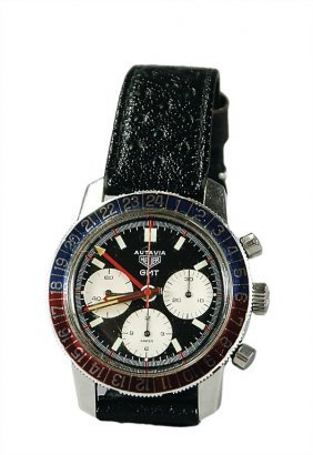 3297: HEUER men's watch Autavia G.M.T: 2446C, chronogra