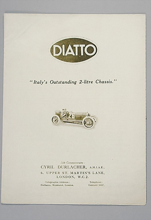 1807: DIATTO mid '20s, folder with 8 pages, Diatto type