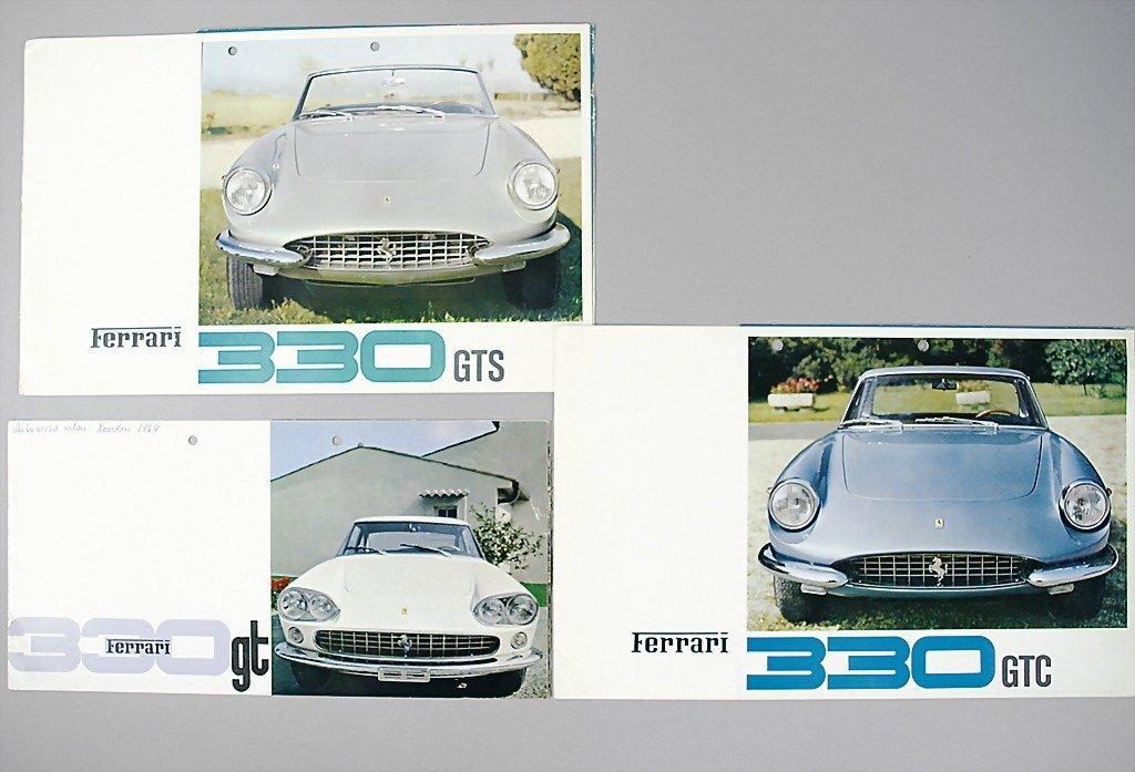 1809: FERRARI mixed lot of 3 sales brochures, No. 1 Fer