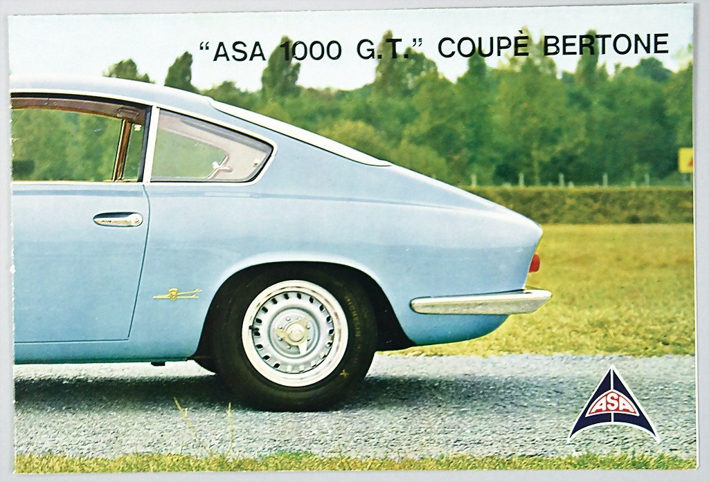 1812: ASA folder ASA 1000 GT Coupe by Bertone, 8 pages,