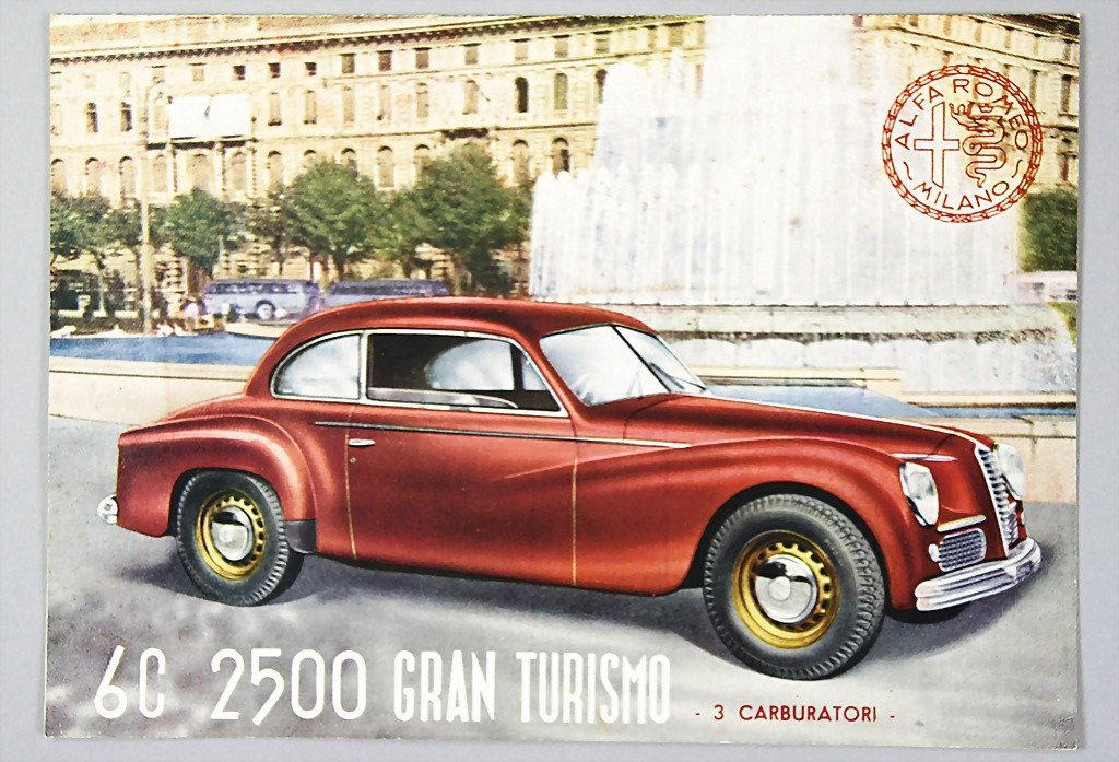1813: ALFA ROMEO folder in three languages Alfa Romeo 6