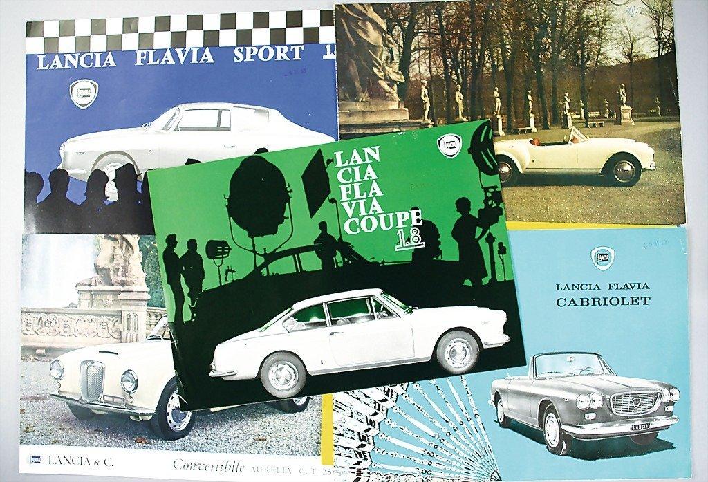 1814: LANCIA mixed lot of 6 flyers, condition B. Lancia