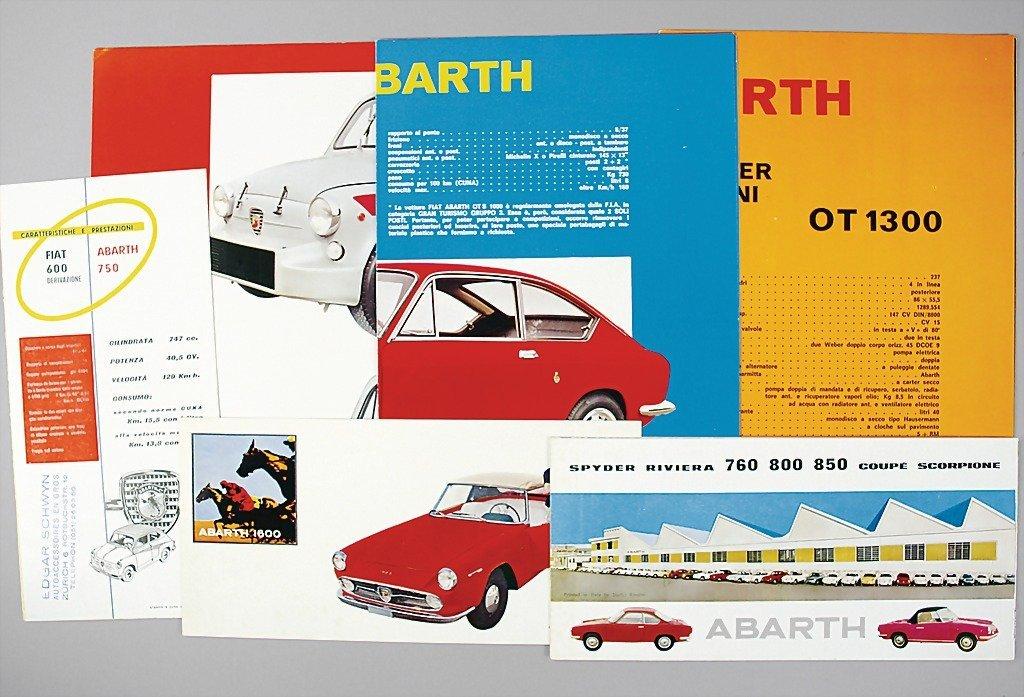 1815: ABARTH/FIAT mixed lot of 6 folders, No. 1: folder