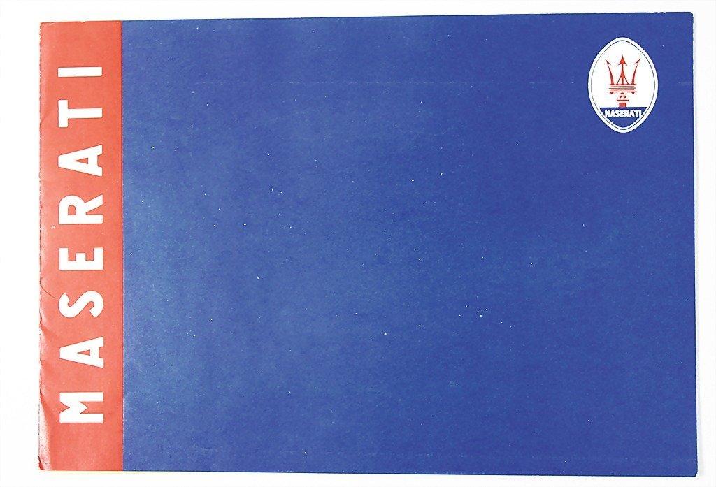 1817: MASERATI 1957, brochure folder with all in all 5
