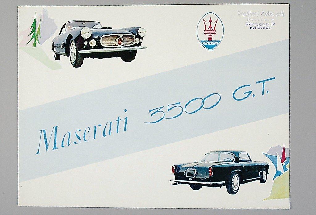1818: MASERATI c. 1957, with 8 pages folder Maserati ty
