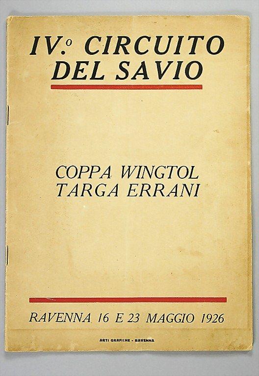1821: programme, IV. Circuito del Savio Coppa Wingtol T