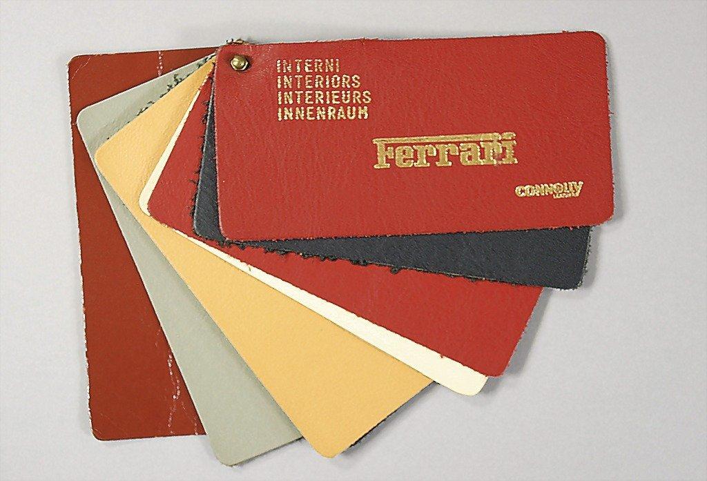 1824: FERRARI original leather sample, '70s, with 6 dif