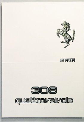 FERRARI Operating Instructions 309 Quattrovalvole