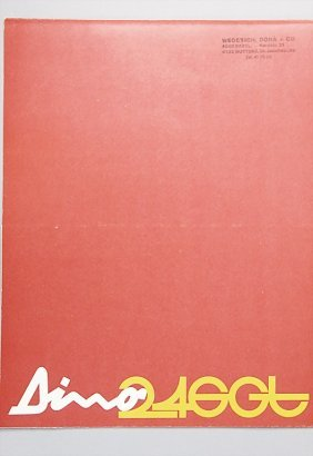 FERRARI Brochure Dino 246 GT, 8 Pages, 1972, Good