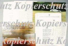 LAMBORGHINI 4 Pieces, 1x Brochure, Urraco P250, 8