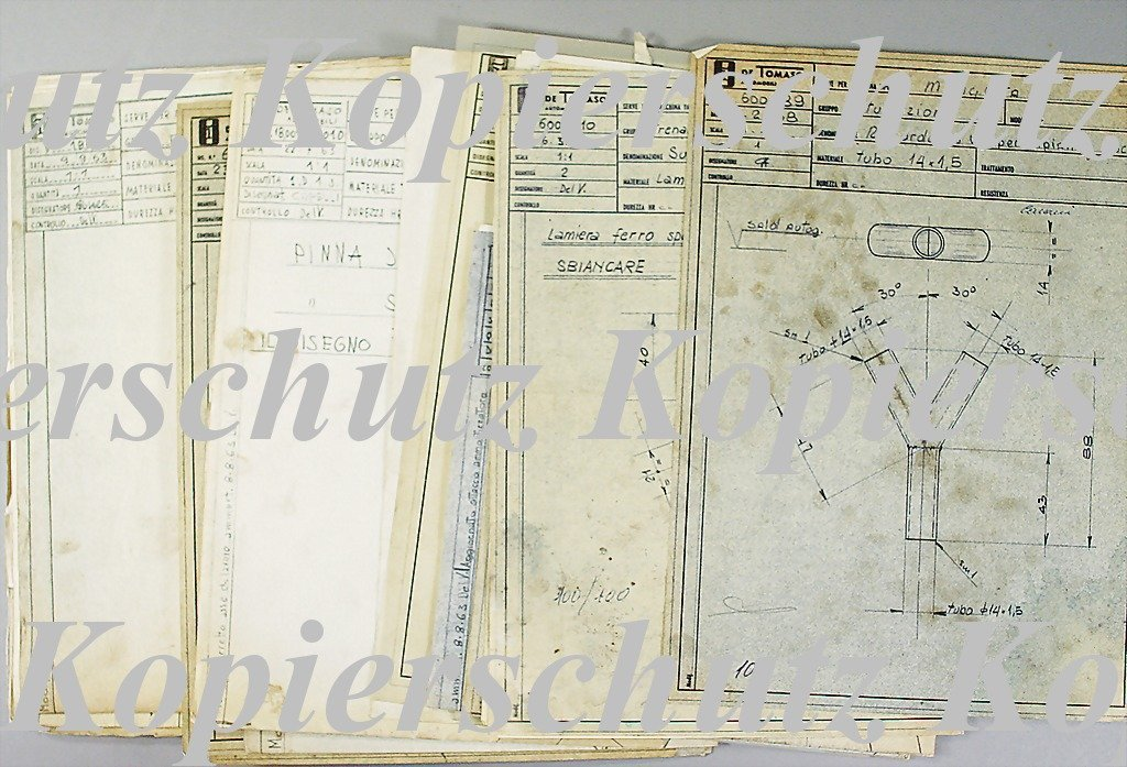 1878: DE TOMASO 15 blueprints with detail illustrations
