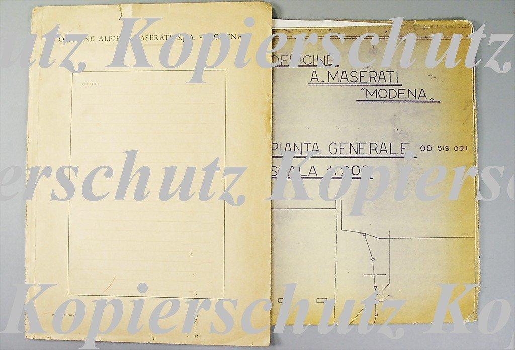 1883: MASERATI original blueprint, Officine A. Maserati