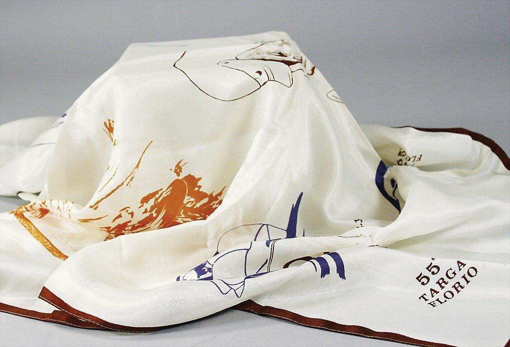 1893: silk scarf, 55th Targa Florio, condition: 2-   Ge