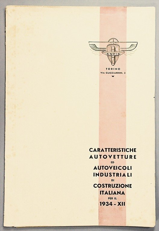 1895: brochure for in Italy produced vehicles of the ye