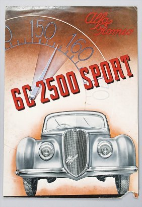 ALFA ROMEO I 1939, Folder, 6 C 2500 Sport, 6 Page