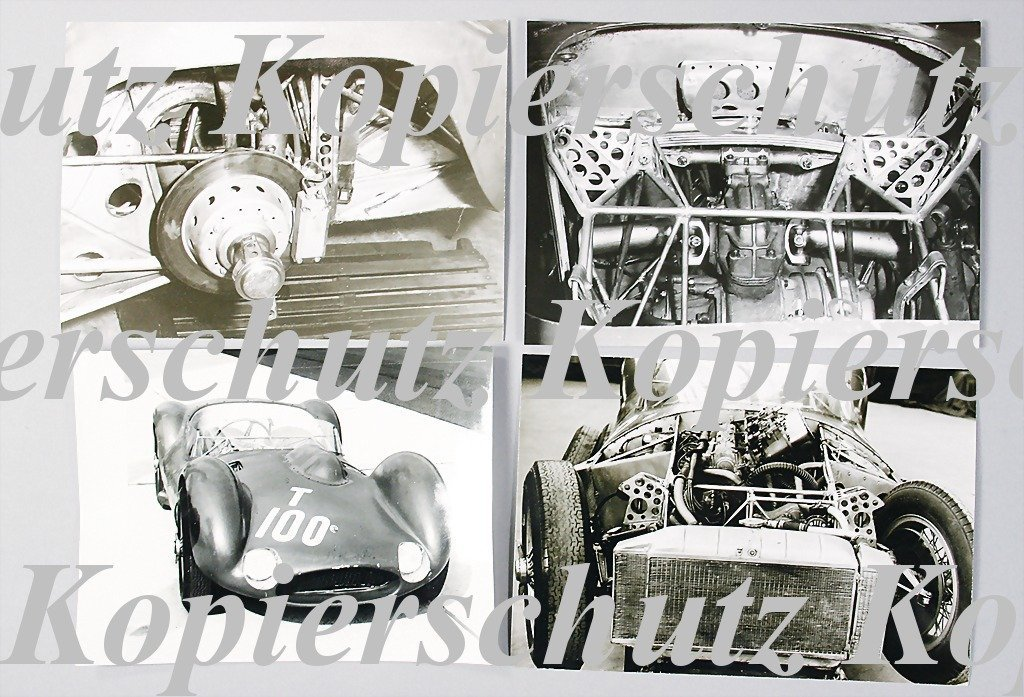 1947: mixed lot of 4 original B/W photos, Maserati Bird