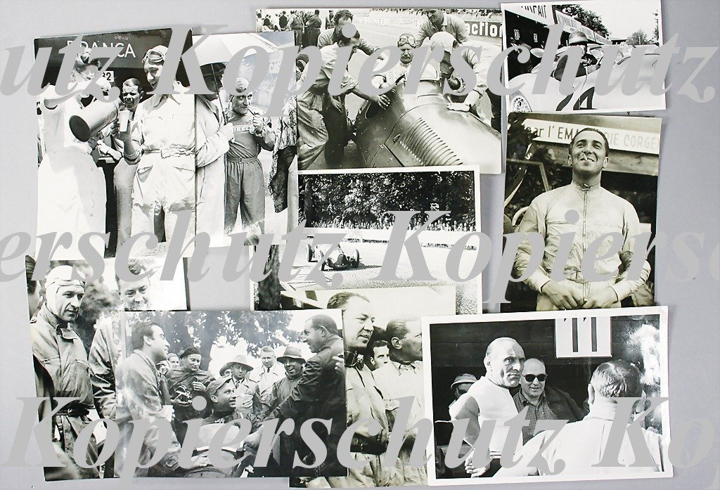 1949: mixed lot of 10 original B/W photos, among them B