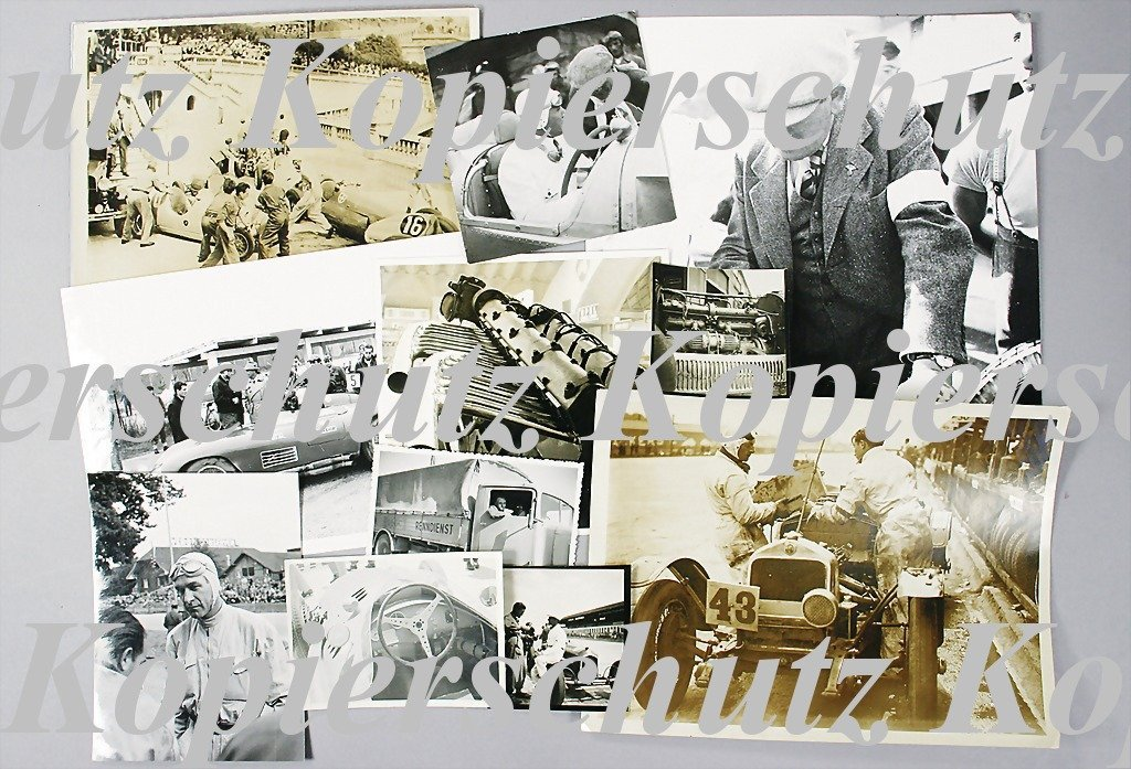 1952: mixed lot of racing photos, 11-pieces, among them