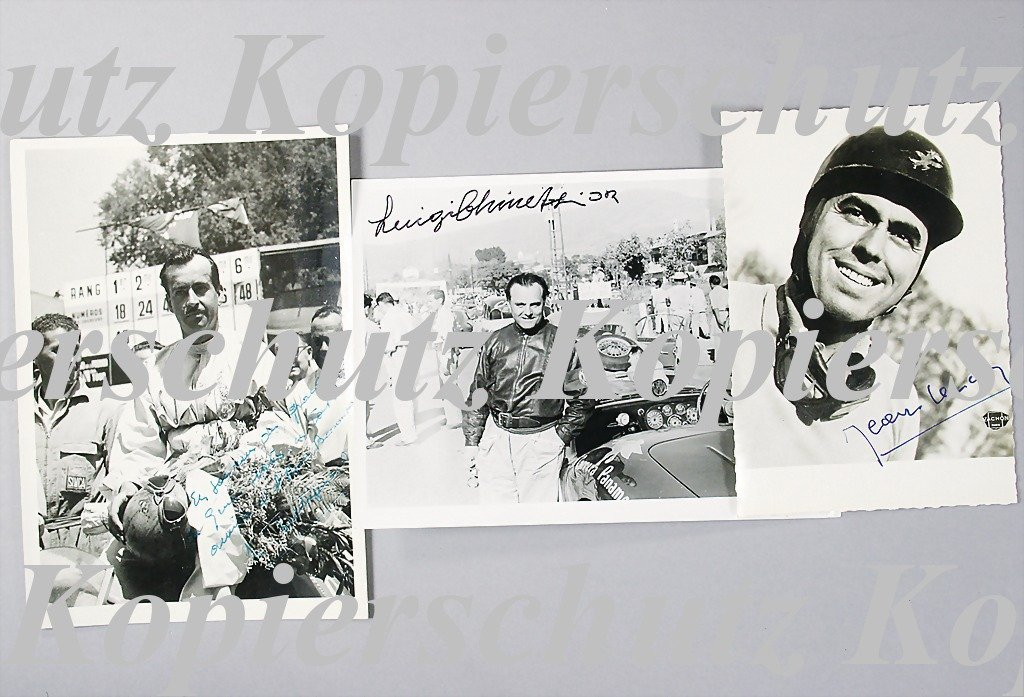 1953: mixed lot of 3 signed original B/W photos, 1x Tri