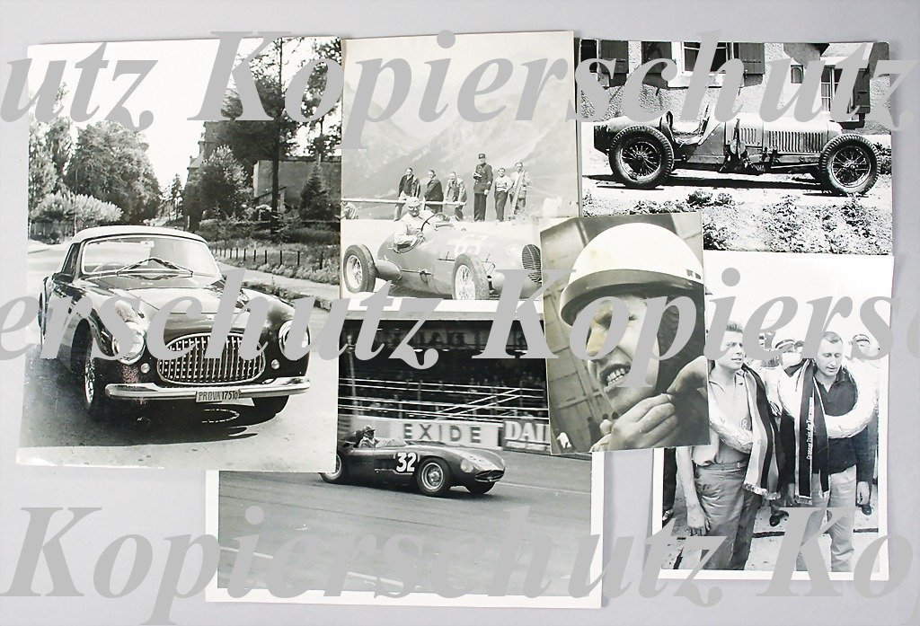 1954: mixed lot of 6 original B/W photos, among them ph