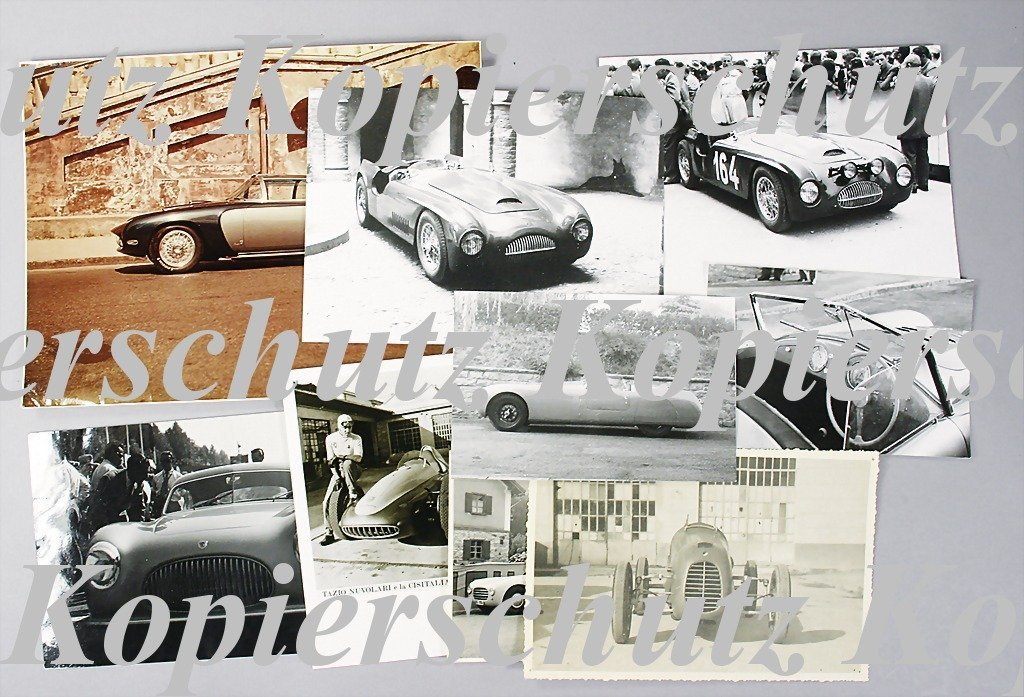 1960: CISITALIA mixed lot of 9 original photos, among t